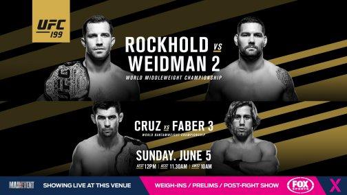 UFC 199 live brisbane