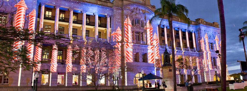Brisbane Festival Treasury Lights